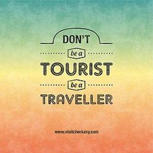 dont be a tourist