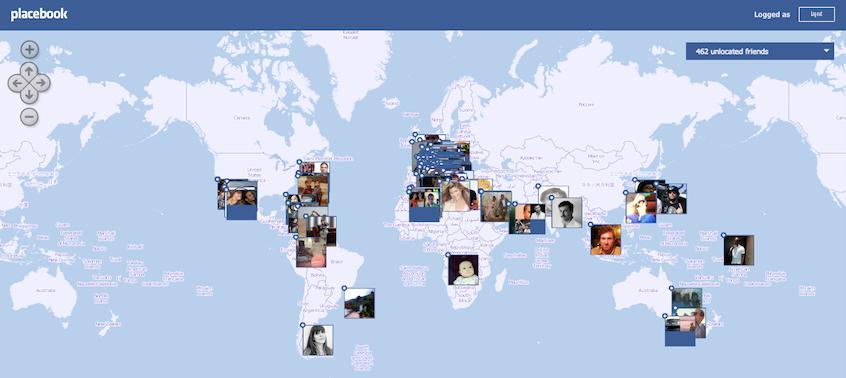 placebook, amis, facebook, lieux